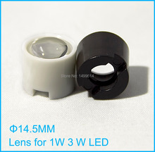 Buy 50pcs LED lens 1W 3W LED light 15 degree White black Holder diameter 14.5mm convex optical lens Reflector Collimator for $7.36 in AliExpress store