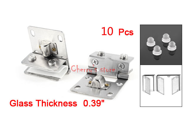 Best Promotion Wholesale Price Silver Tone Stainless Steel 10mm Thickness Wall to Glass Hinges 10PCS(China (Mainland))