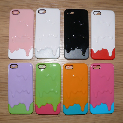 cute Latest Design 3D Melting Ice Cream Hard Case Cover iPhone 4S 4G 5G 5S shell phone cases supply Drop