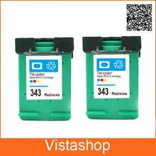 HP 343 Ink Cartridges Deskjet 6540 6620 6840 PSC 1500 1510 1600 1610 Photosmart C4180 420 22 425 428 475 - Vistashop store