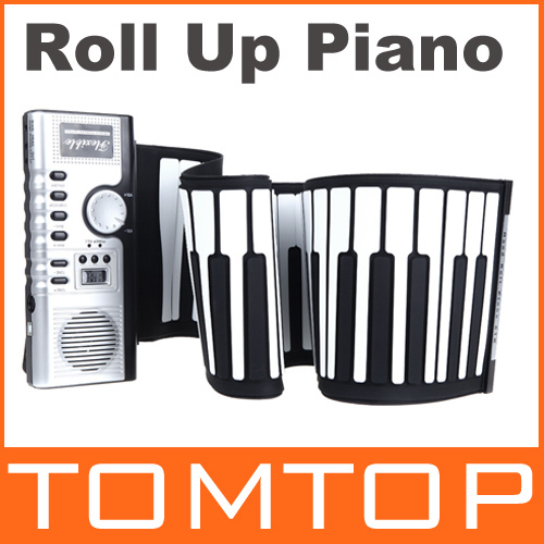 [해외]Top Quality Portable 61 Keys Flexible Roll Up Pian..