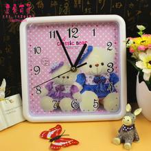 Shop supply square wall clock cartoon fashion minimalist home(China (Mainland))