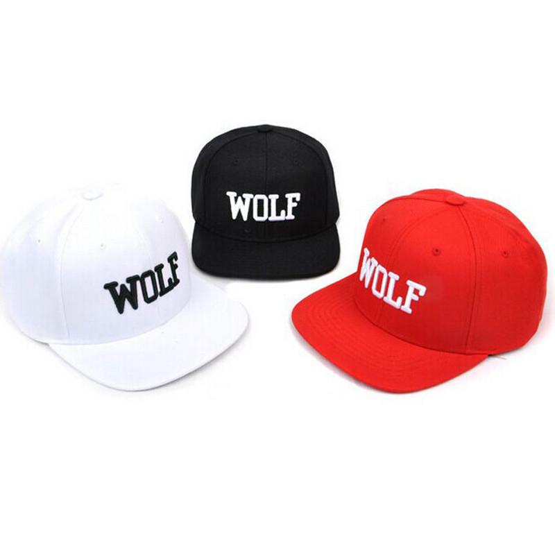 2016 snapback cheap white red black plain cap with letter wolf adjustable tfboys baseball caps china men women sun hat(China (Mainland))