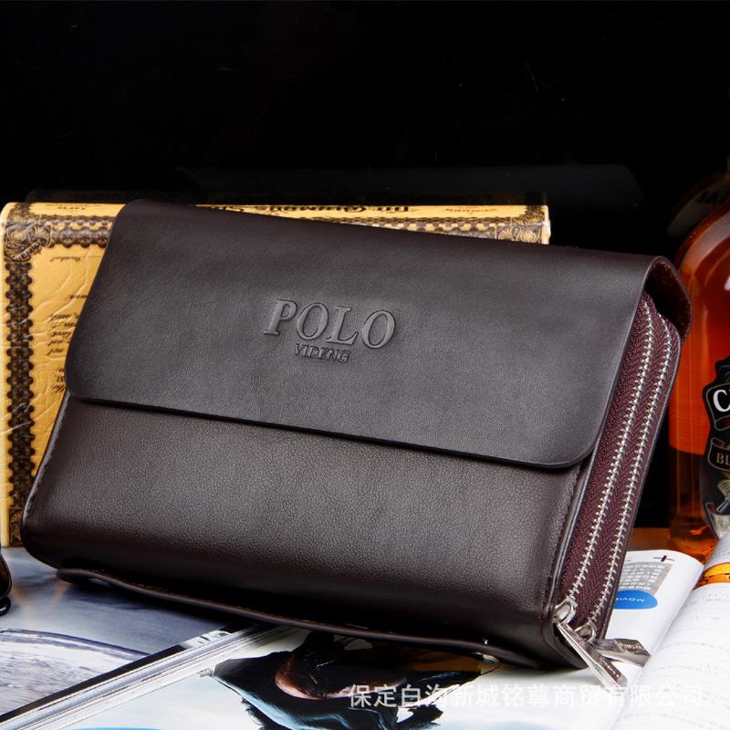 Гаджет  Wholesale new Korean leisure bag hand bag large capacity double zipper man business Handbag Clutch None Изготовление под заказ