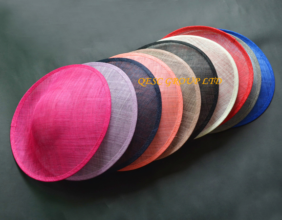 [해외]13 colors.High quality. Large sinamay fascinator bas..