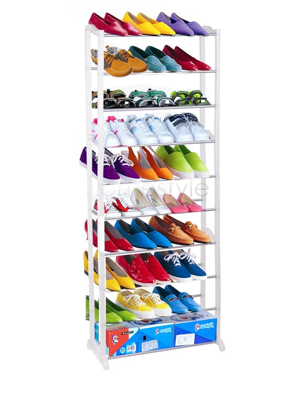 1pc Cheap Modern 10-Layer Shoe Rack/Shoe Shelf/Shoe Cabinet Easy Installation Stand For Shoes Shelf For Books 10(China (Mainland))