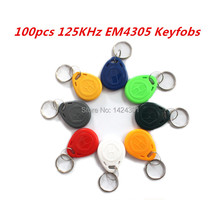 (100pcs)125KHz EM4305 RFID Access Control Cards Keyfobs Key Finders Keychain Tags for Identity Authentication Card Payment