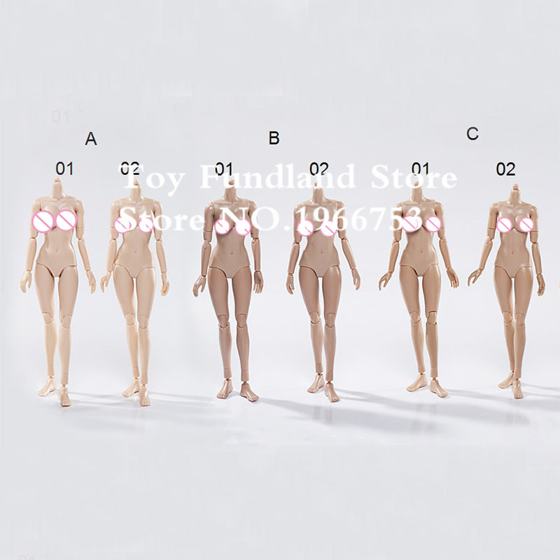 SUN & CLOUD 1:6 Scale Female Body Large & Medium Bust 3 Colors Collectible Nude Action Figure Doll Toys(China (Mainland))