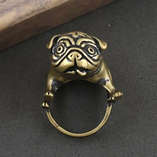 خمر فاسق القوطية صخرة الدائري الكلب الأزياء والمجوهراتالأبجدية الذهب الفولاذ المقاوم للصدأ خواتم للنساء للرجال الحزب gif(China (Mainland))