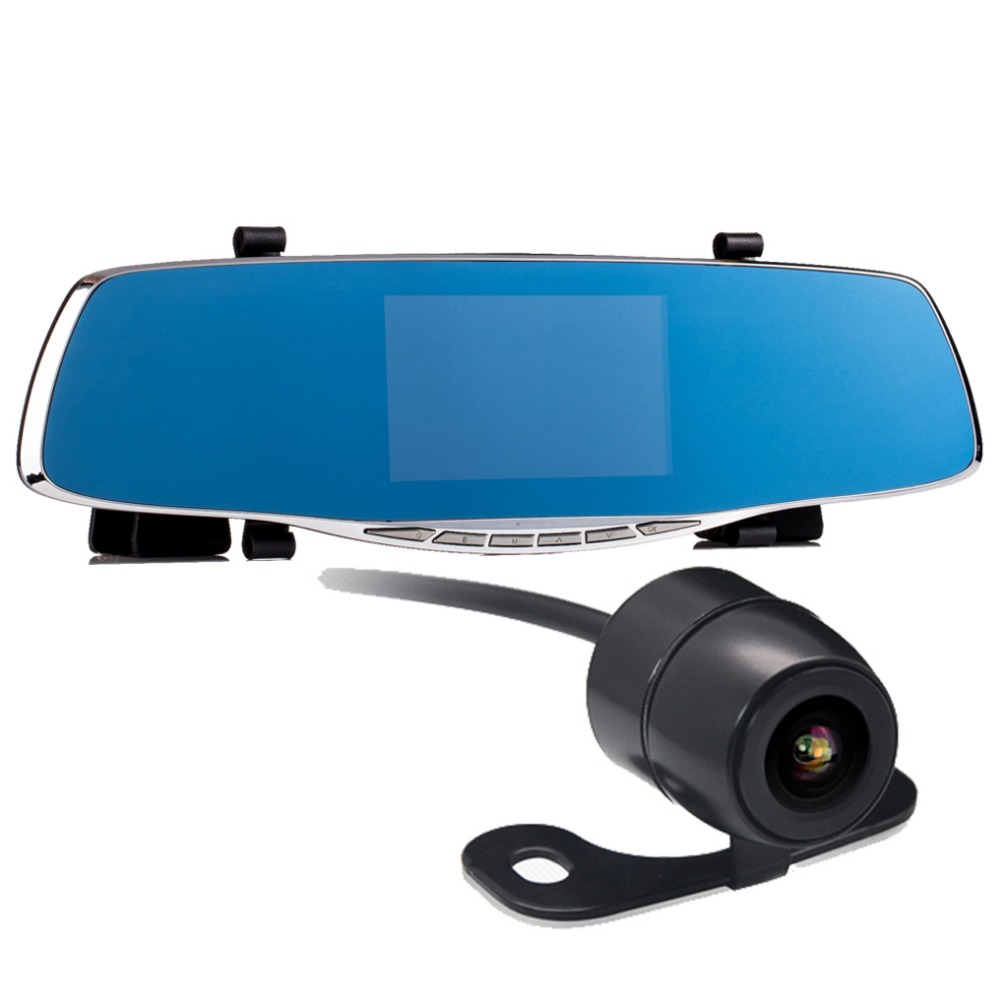 car camera rearview mirror auto dvrs cars dvr dual lens dash cam recorder video registrator camcorder full hd1080p night vision(China (Mainland))
