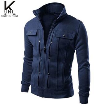 2015 марка мужские кофты куртки твердые мода толстовка на молнии дизайн куртки пальто мужская спортивная зима FHY40