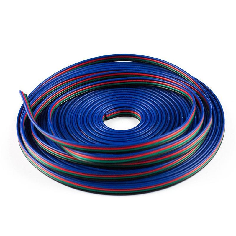 Гаджет  RGB 20m LED Flexible Strip Light Extension Cable 4-Pin Line Cord Wire None Свет и освещение