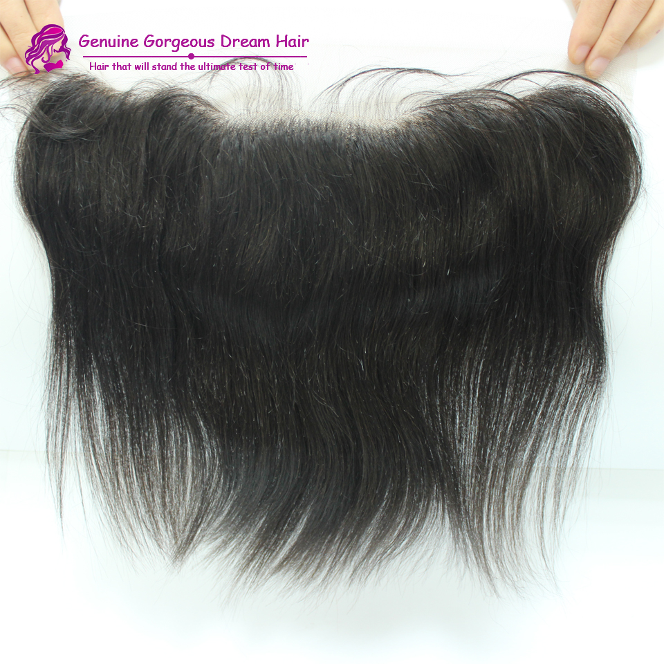 Здесь можно купить  7A Straight Lace Frontal Closure Malaysian Virgin Human Hair 13x4 Lace Frontal Bleached Knots Free Middle 3 Part with baby hair  Волосы и аксессуары