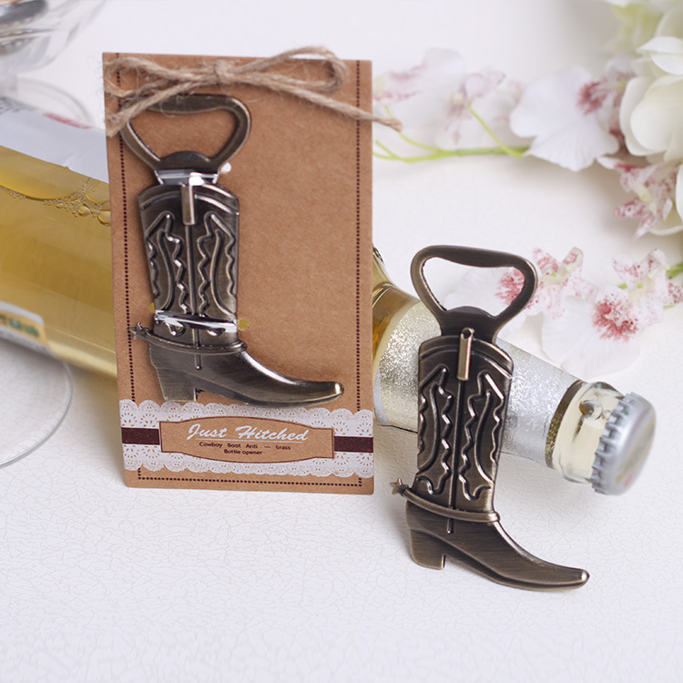wedding favor gift and giveaways for guest Boots shoes bottle opener ...