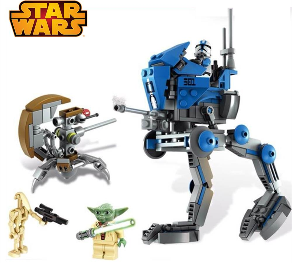 245pcs STAR WARS AT-RT Yoda Clone Trooper Sniper Droid Building Bricks Blocks Set Toys Compatible With Lego 75002 <br><br>Aliexpress