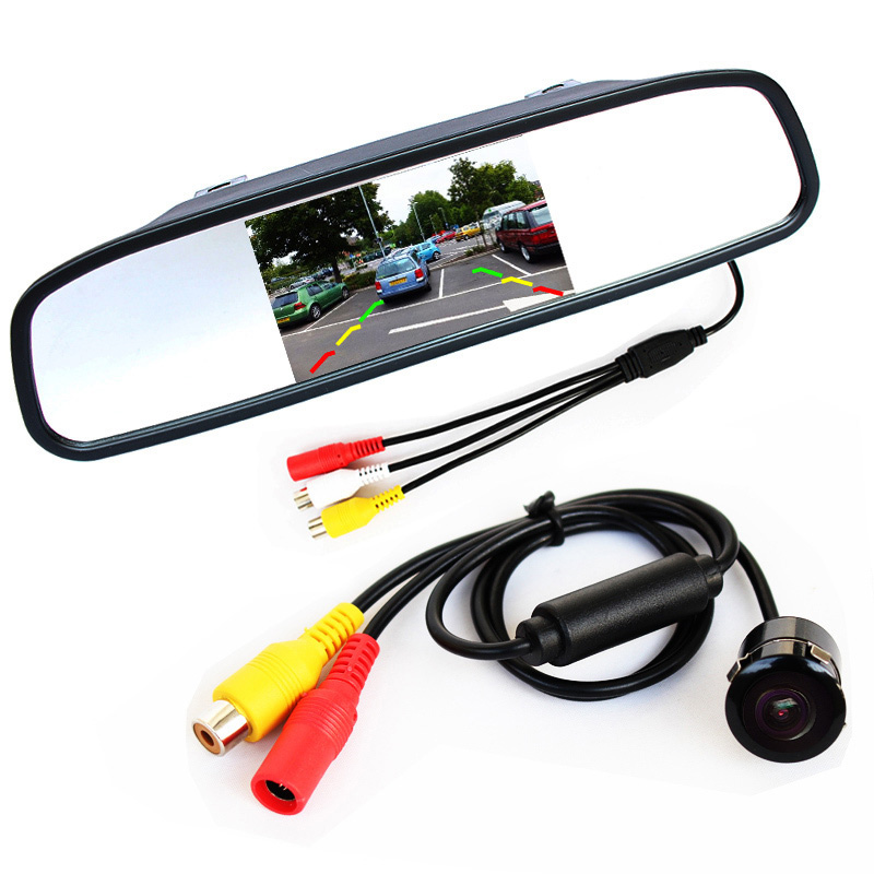 2 In 1 Universal Bracket 4.3 Inch Mirror Monitor + Waterproof Rear View Parking Camera for Reversing Backup Assistance(China (Mainland))