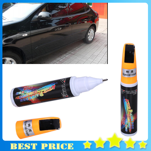 Free Shipping 2X Black Dropshping Fix it PRO Painting Pen Car Scratch Repair for Simoniz Clear Pens Packing car styling car care(China (Mainland))