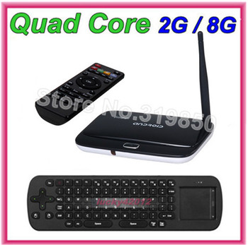 { Free Fly air mouse RC12 } With CS918 RK3188 Quad Core Android 4.4.2 TV Box ARM Cortex-A9 AV Port 2GB RAM 8GB ROM HDMI XBMC
