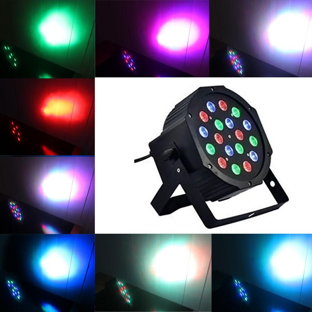 18*3W Professional LED Stage Light LED RGB DMX 512 Laser Projector Lighting Xmas Mini DJ Club Disco Party Lighting ShowUS Plug(China (Mainland))