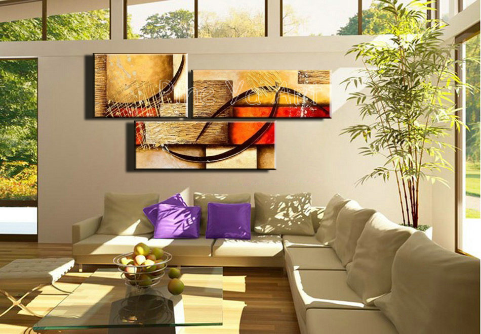 Piece Abstract Modern Canvas Wall Art Decorative Large Cheap Picture