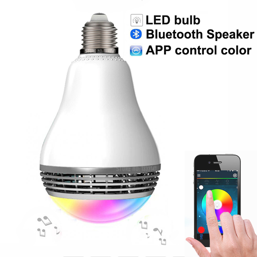 2016 Newest Wireless Bluetooth Speaker Smart LED Bulb Light PLAYBULB X 110V - 220V E27 Lamp Audio for iPhone IOS Android phone(China (Mainland))