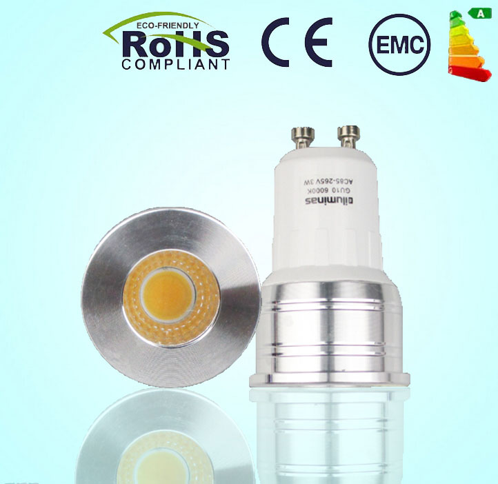 MINI NEW led GU10 COB dimmable cold white Warm White 6W AC85-265VLED GU10 lamp light replace the Halogen lamp(China (Mainland))