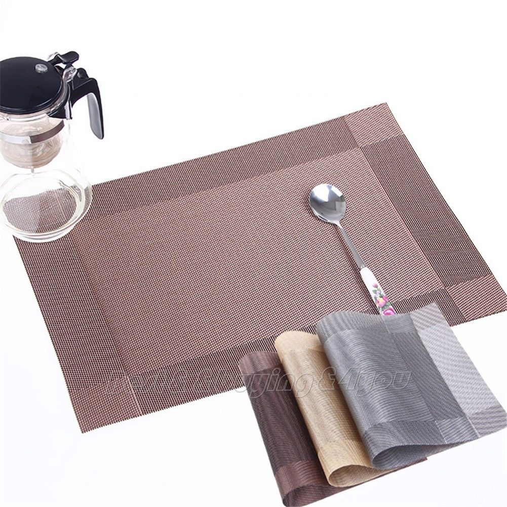 4x Dining Table Mat Pad PVC Dinnerware Placemat Insulation Kitchen Restaurant(China (Mainland))