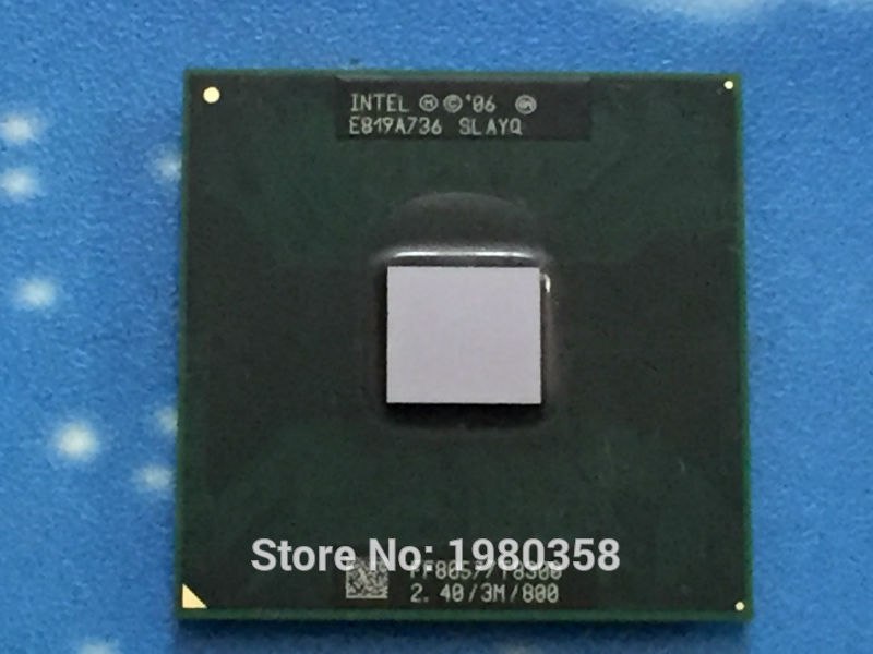 For Intel Core Duo T8300 CPU 3M Cache,2.4GHz,800MHz FSB ,Dual-Core Laptop processor for 965 chipset (working 100% Free Shipping)(China (Mainland))