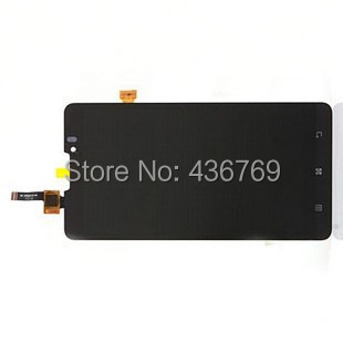 LCD display Touch Screen Digitizer Assembly For Lenovo p780 glass lens Black 5 inch free shipping