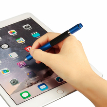 6 colors toch pen 2in1 Stylus Pen Capacitive Touch Screen Stylus Ballpoint Pen For iPhone For Tablet PC(China (Mainland))