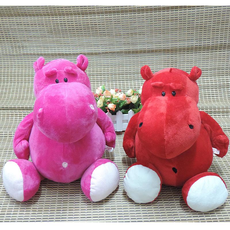 16 Inches Large NICI Hippos Plush Toys Cartoon Animals Stuffed Dolls Pink Red Bebemoth Hippopotamus Kids Toy Children Gifts(China (Mainland))