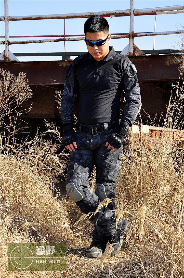 tactical military shirt men frog Training Wear Phoenix ACU FG-sleeved dress black camo shirt S-XXL<br><br>Aliexpress