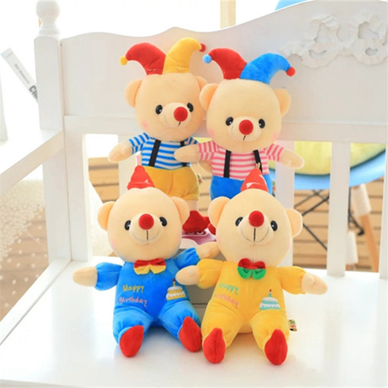 Baby Kids Soft Plush Toys Colorful Teddy Bear Stuffed Animal Doll Toy Gift For Birthday Pacify Plush Hold Doll Party Decor Doll(China (Mainland))