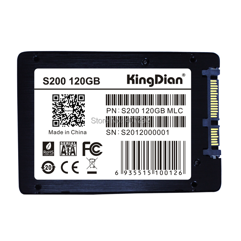 Free shipping kingdian brand lptop desktop PC POS computer hard drive 2.5 SATA3 mlc internal SSD120GB(China (Mainland))