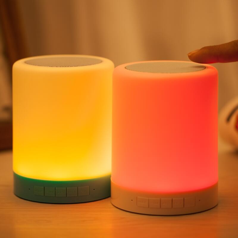 LED lamp Bluetooth speaker (6)