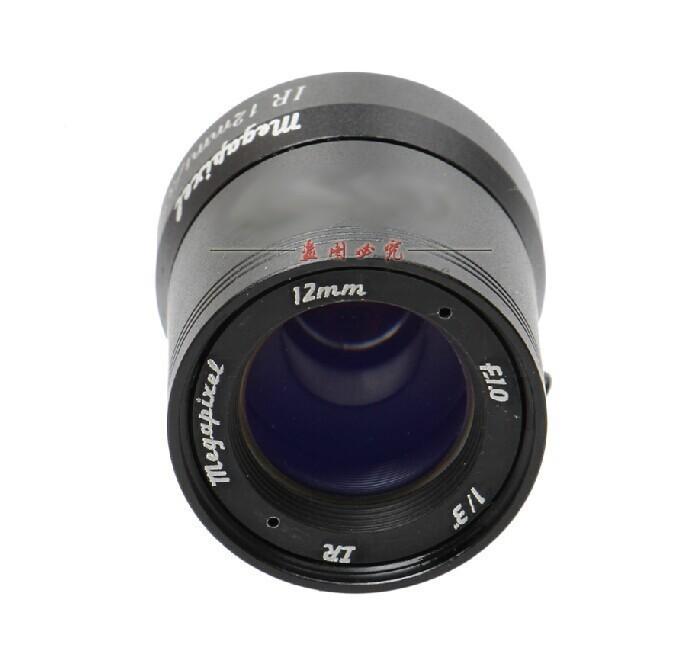 "2MP 960P HD 1/3"" F1.0 CCTV Fixed Iris IR Infrared 12mm Lens CS Mount lense For CCD Camera(China (Mainland))"