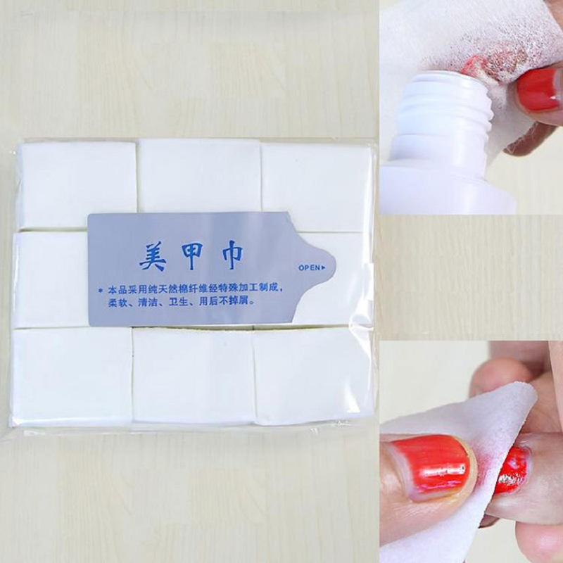 Cheap Wholesale 900pcs Professional Soft Lint Free Nail Art Tips Manicure Polish Remover Cleaner Wipe Cotton Pads Paper(China (Mainland))