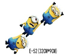 32x9cm Cute 3D Despicable Me minions Car Stickers car styling vinyl decal sticker for Cars Acessories decoration(China (Mainland))