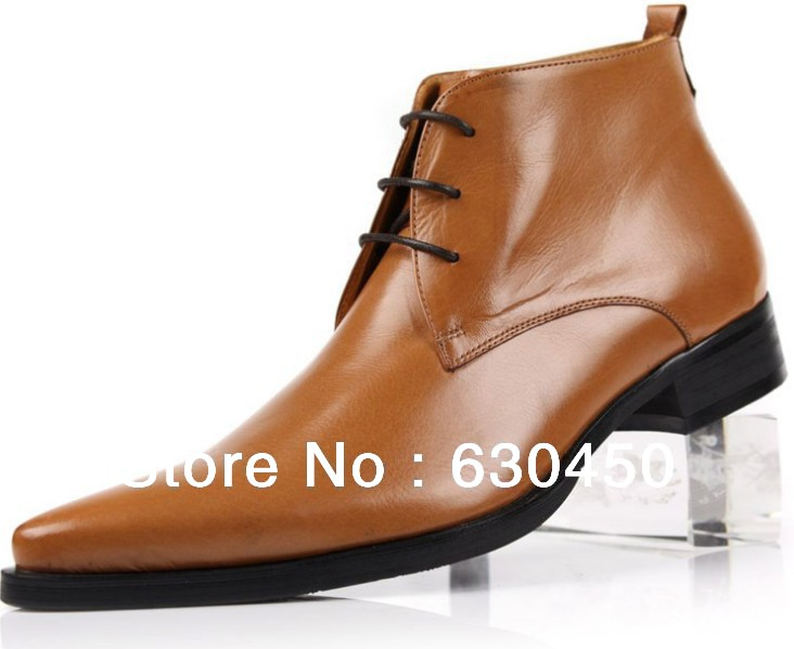 new fashion mens ankle boots casual pointed toe