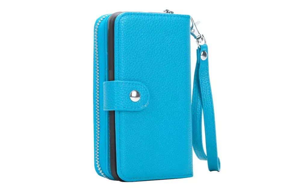 SYS  Zipper Bag Wallet Pouch Mobile phone PU Leather Case For Samsung Galaxy S6 Edge Plus  G9280  Removable Back Cover