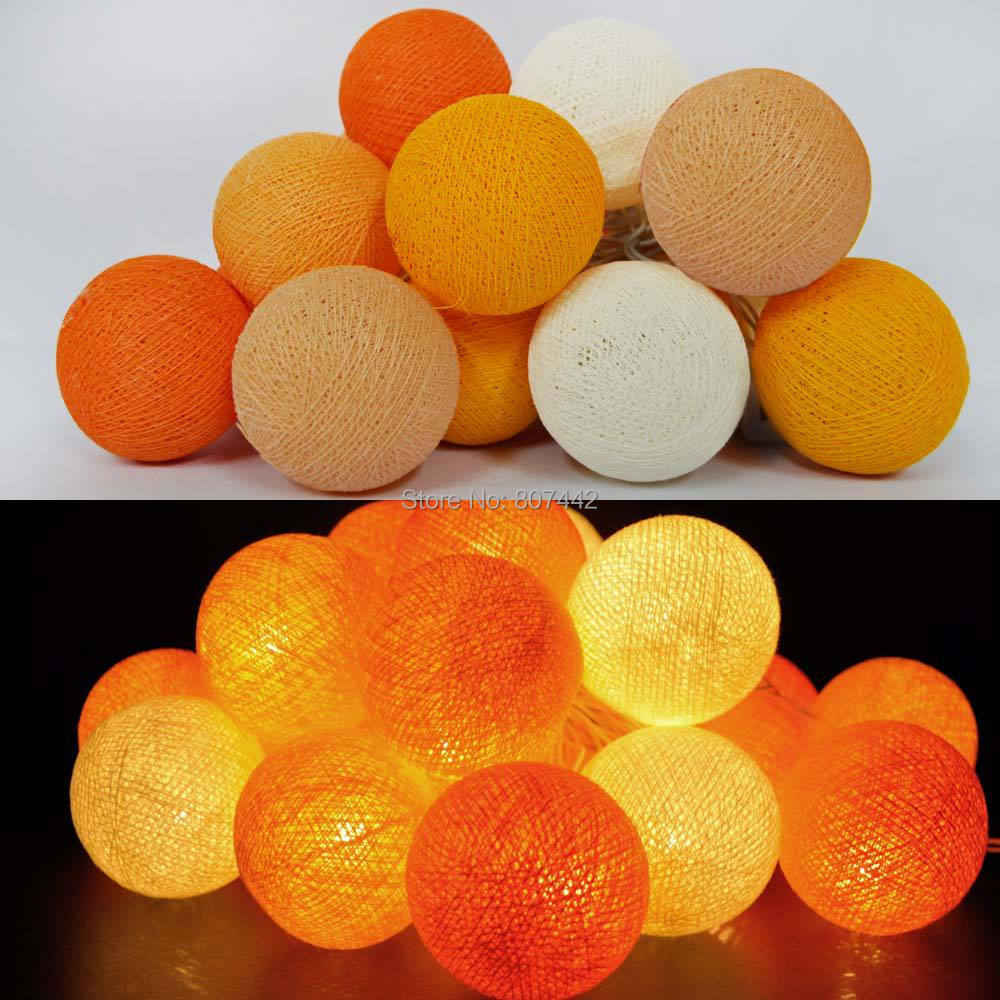 35 Balls/Set Sweet orange imported cotton ball lights Thailand holiday lights Decorate the sitting room room , CE/GS/SAA/UL(China (Mainland))