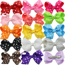 Buy Polka Dot Grosgrain Ribbon Hairbows,kids Girls' Hair Accessories Clip,Boutique Hair Bows Hairpins for $4.99 in AliExpress store