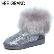 HEE GRAN Tobillo de Las Mujeres Botas de Invierno Botas de Nieve Del Brillo 2016 Zapatos de Plataforma Mujer Slip On Pisos Casual Zapatos de Las Mujeres de piel XWX2902(China (Mainland))