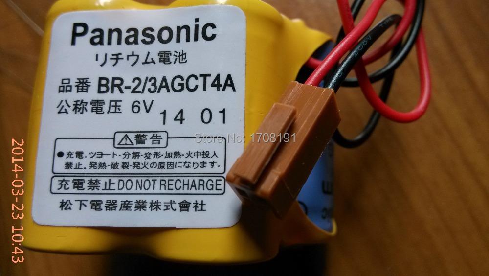 5PCS NEW Original For Panasonic BR 2 3AGCT4A 6V 2400mAh PLC Battery For FANUC With Plug