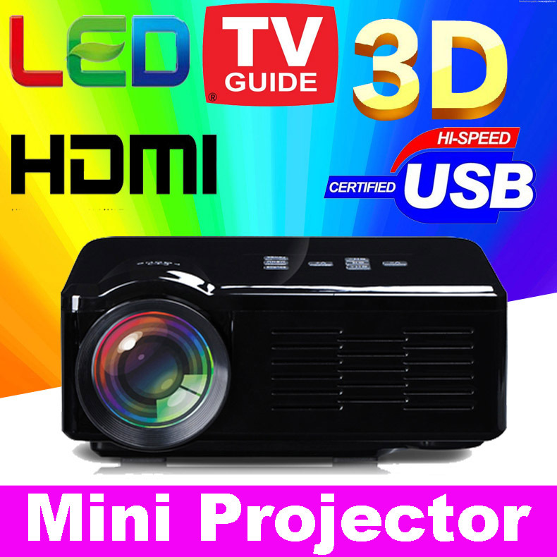 2015 New Cheap HD TV home cinema Projector HDMI LCD LED Game PC Digital Mini Projectors support 1080P Proyector 3D Beamer ATCO(China (Mainland))