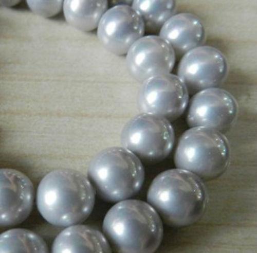 Charming 10mm Silver South Sea Shell Pearl Loose Beads 15''AAA+ Jasper DIY Loose Jade Women Gifts Fashion Jewelry Making Design(China (Mainland))