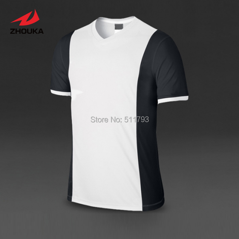 Custom Soccer Jersey tops Short-sleeve Quick Dry Top quality Adult Kids V-neck 100%polyester(China (Mainland))