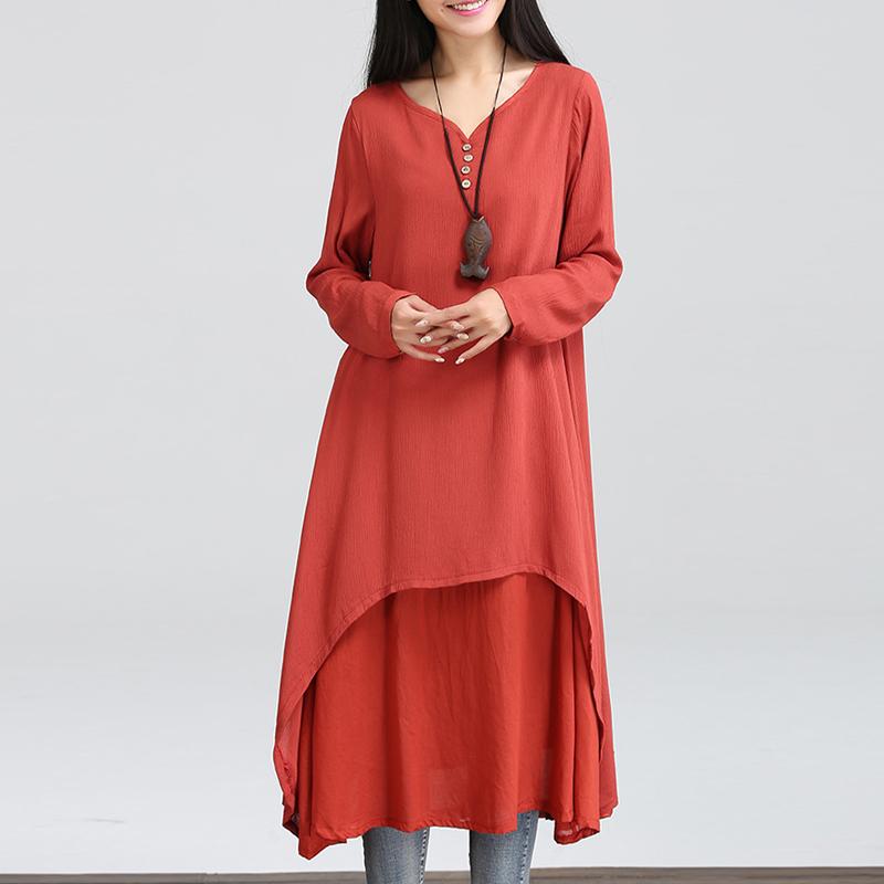 New Button Loose Dress Summer Party Dresses Plus Size Woman Clothes Women