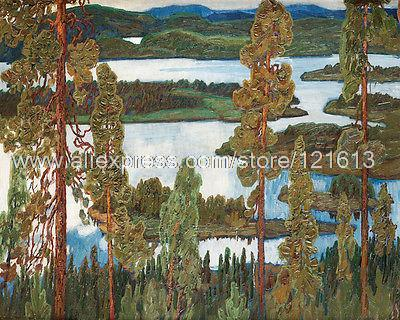 Osslund Helmer Summer Landscape From Norrland Wall Decoration Hand Painted Hotel Western Huge Picture Painting Art Buy(China (Mainland))