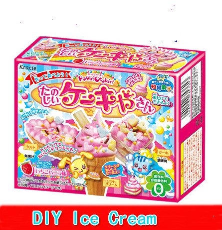 Japan imported Food kracie edible Sweet taste ice cream DIY children handmade candy snack Christmas Gift For Kid Popin cook(China (Mainland))